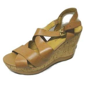 Franco Sarto Shiver Wedge Cork Heel Sandals